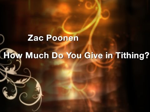 Zac Poonen - How Much Do You Give in Tithing? | New