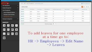 Learn how to configure leave management module in sentrifugo hrms