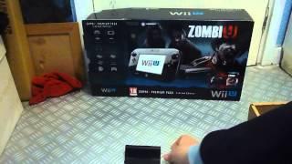 Nintendo Wii U Console 32gb Black Premium ZombiU Bundle Unboxing