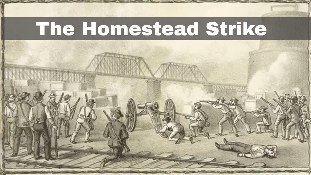 6th July 1892 The Homestead Strike sees Pinkerton agents fight striking  steelworkers - YouTube