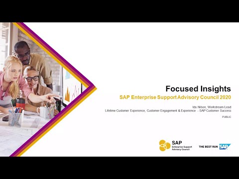Overview: Focused Insights For SAP Solution Manager   ESAC 2020