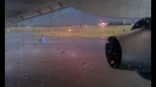 Взлёт Ан 148 100Е RA 61714 в грозу Новосибирск 2014г