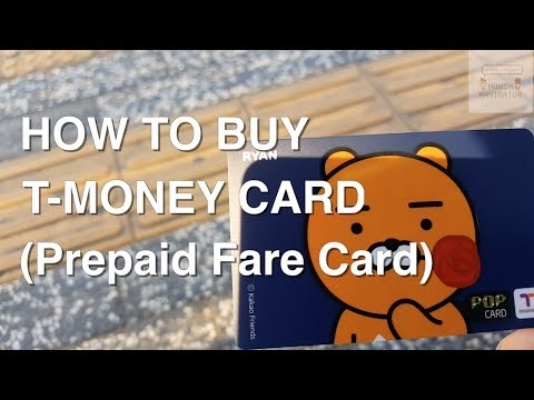 #2. How to buy T- Money!! (한국 교통카드 티머니)