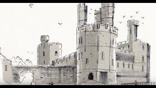 Drawing Welsh Castles