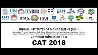 CAT 2018 official notification || CAT 2018 exam date ,fee,online application