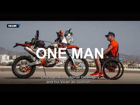 The ultimate Vicair wheelchair cushion Test  - Dakar 2019