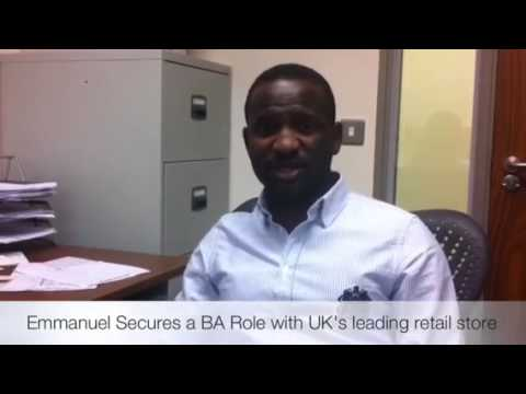 Emmanuel Secures A BA Role With UK's Leading Retail Store