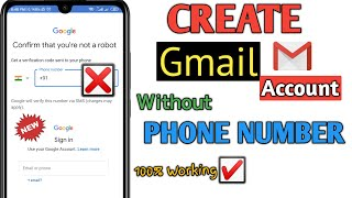 Create Gmail Account Without Phone Number 2020