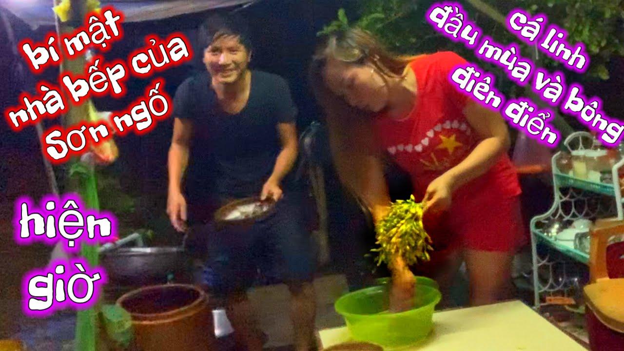 Lý do ra video trễ ..Chỗ nấu ăn hiện giờ của Sơn ngố   Cá linh đầu mùa bông điên điển   Sơn ngố vlog
