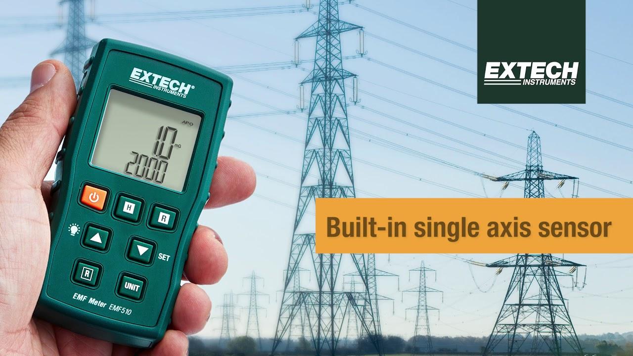 Extech Emf510 High Sensitivity Emf Elf Meter With Built In Single Sensitive Electromagnetic Field Sensor Axis
