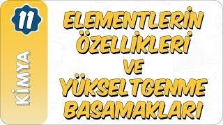 11. Sınıf Kimya   Elementlerin Özellikleri ve Yükseltgenme Basamakları