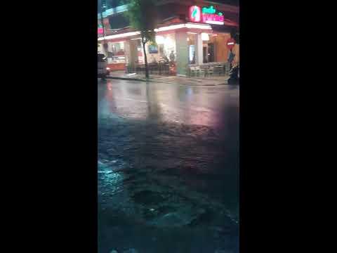 Βίντεο απο την καταιγίδα στην Πατρα - Άνοιξαν οι ουρανοί τα ξημερωματα