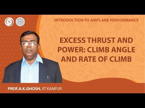 Excess Thrust and Power: Climb Angle and Rate of Climb