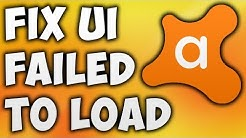 How To Fix Avast UI Failing To Load Error - The Easiest Way To AvastUI Failing To Load