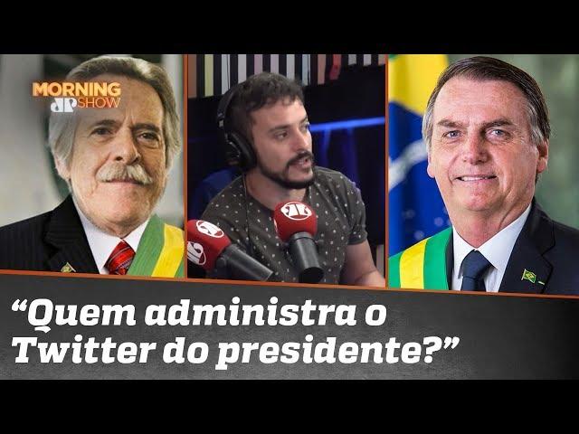 """Xuxa, Zé de Abreu, Bolsonaro. """"Quem administra o Twitter do presidente?"""", pergunta Fefito"""