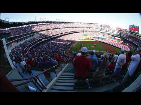 Texas Rangers vs Cleveland Indians Time-lapse at Globe Life Park in Arlington on Opening Day