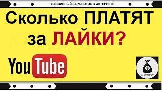 СКОЛЬКО ПЛАТИТ ютуб за ЛАЙКИ и сколько youtube платит за ПОДПИСЧИКОВ?