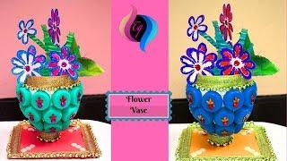 How to make plastic bottle flower vase - Make a homemade flower vase - Best ways to decorate a vase