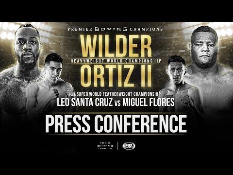 Wilder vs Ortiz II - Announcement Press Conference FULL BROADCAST
