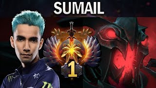 THIS IS HOW TOP 1 MMR PLAYS SHADOW FIEND - SUMAIL - DOTA 2 7.23E GAMEPLAY