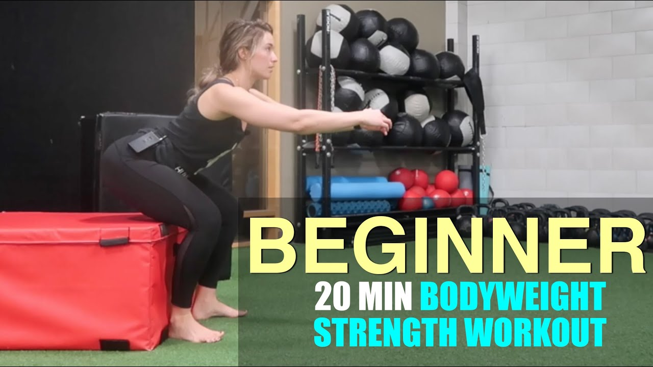 Download BEGINNER Bodyweight Strength Workout | Human 2 0