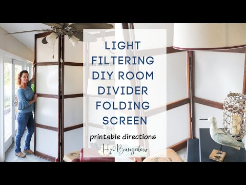 DIY Folding Screen Room Divider