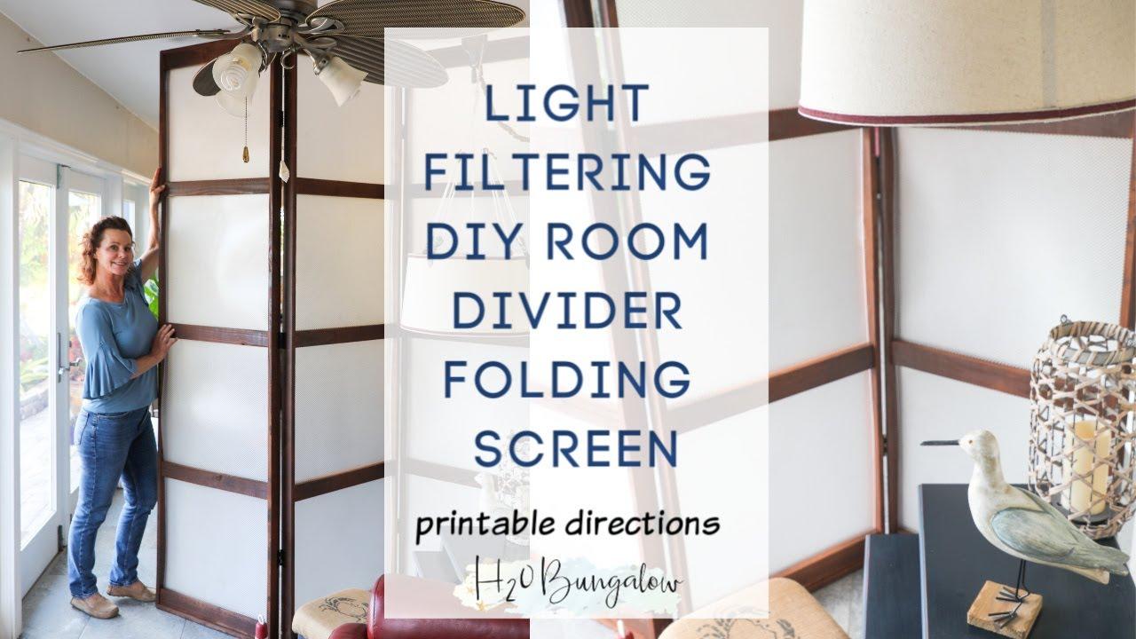 Diy Folding Screen Room Divider You