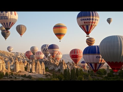Balony w Kapadocji. Ballons in Cappadocia. Göreme National Park