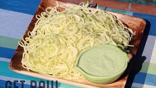 Get Raw Dinner-pasta With Creamy Avocado Basil Sauce!