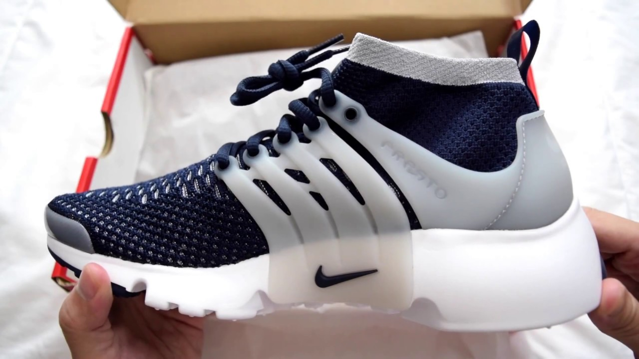 09cd5c5a8321 1 Minute Unboxing - Nike Air Presto Flyknit Ultra (Collegiate Navy   Wolf  Gray)