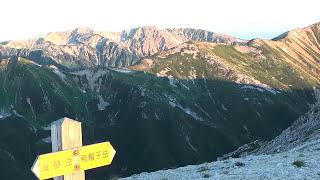 2010.8.5 野口五郎岳山頂からの早朝は、雲海からの御来光から始まり、雲...
