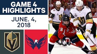 NHL Highlights | Golden Knights vs Capitals, Game 4 - June 4, 2018