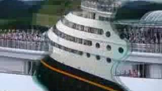 Disney Cruise Line going through the Panama Canal