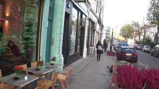 Walking along Regent's Park Road, Primrose Hill, Camden, London, NW1  - 15th November 2013
