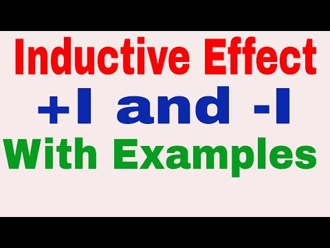 Inductive Effect || +I and -I effect || Electronic Displacement | Basic Concept of Organic Chemistry