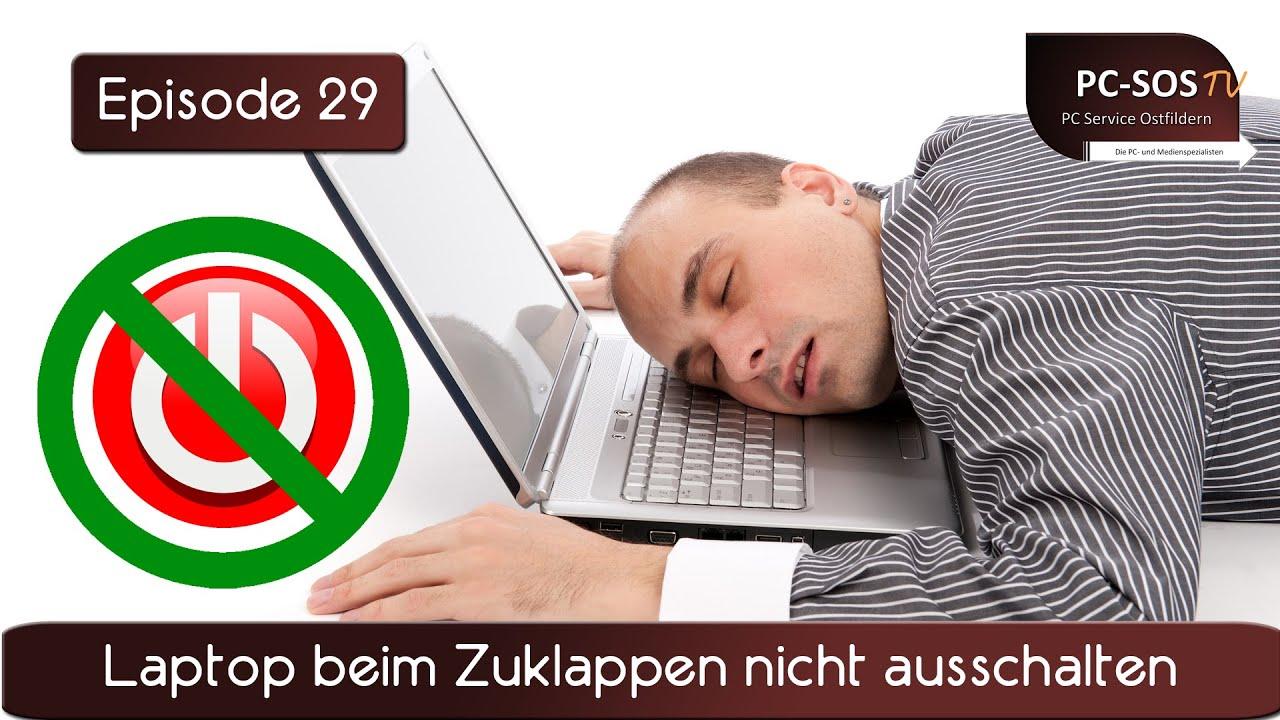 laptop zuklappen kein standby windows 7