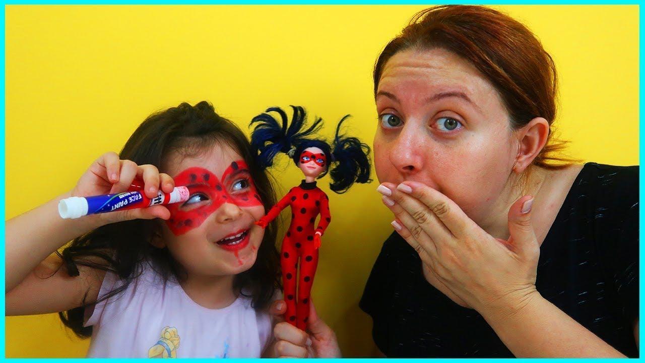 Mucize Uğur Böceği Ladybug Yüz Boyama Yaptık çocuk Video Youtube