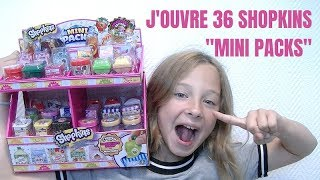 "J'OUVRE 36 SHOPKINS ""Mini Packs"" !!"