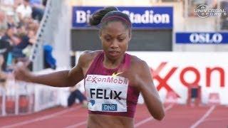 Allyson Felix wins 200m in Oslo - Universal Sports