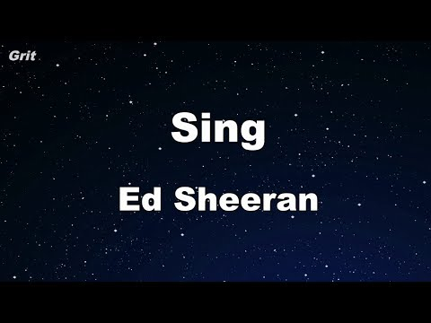 Sing - Ed Sheeran Karaoke 【No Guide Melody】 Instrumental