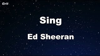 Sing - Ed Sheeran Karaoke 【No Guide Melody】 Instrumental