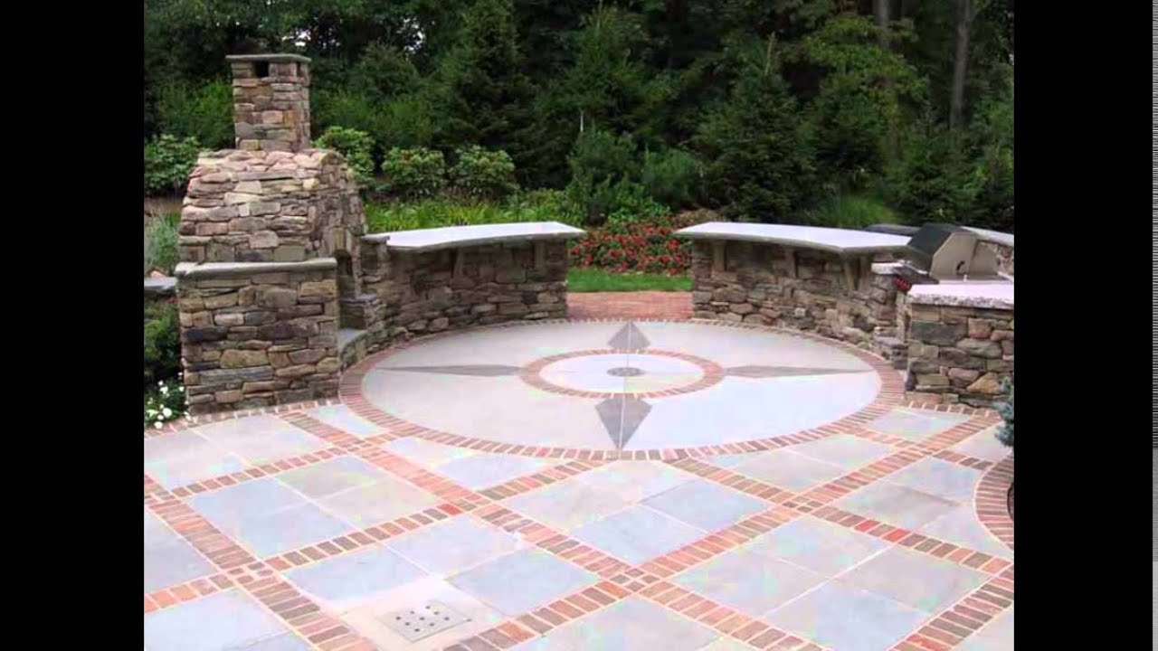Brick Patio Designs Red
