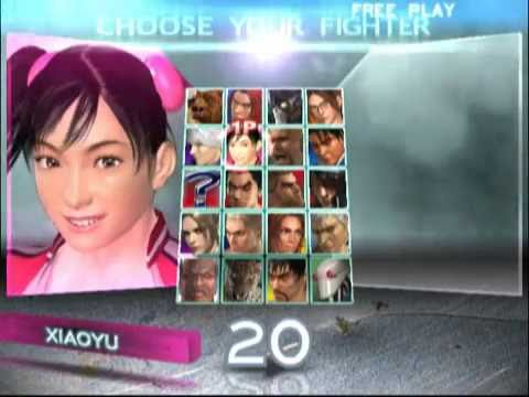 Tekken 4 Ps2 All Character Select Youtube