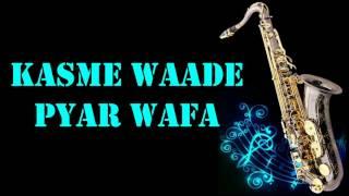 #164:-Kasme Waade Pyar Wafa    UPKAR    Manna Dey    Best Saxophone Instrumental   HD Quality
