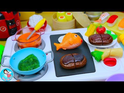 ละครสั้น คุณแม่ทำกับข้าว ของเล่นเครื่องครัว ของเล่นทำอาหาร ของเล่นผักผลไม้หั่นได้ Fairy Doll TV