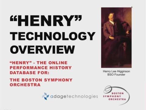 Boston Symphony Orchestra's HENRY Archive
