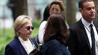 'Overheated' Hillary Clinton Stumbles While Leaving 9/11 Ceremony in New York