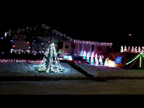 Display of Christmas Lights in Calgary's Glamorgan Neighborhood.
