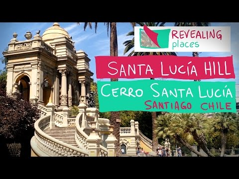 The charmy Santa Lucia Hill in Santiago, Chile