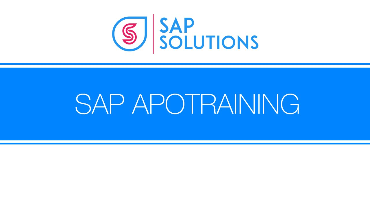 Sap Apo Demo Youtube